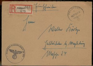 3rd Reich Germany 1941 Fallen Soldiers Effects Pay Stub FP Cover Lot Group