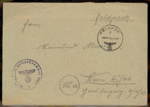 3rd Reich Germany 1944 Panzer Abteilung 506 Tiger Heavy Tank Unit Feldpost Cover CONTENTS