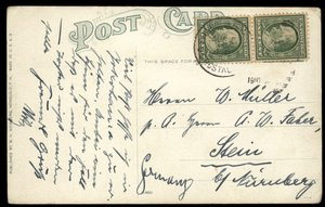 China 1910 US Post Office SHANGHAI 1c Franklin Stein Germany Hawaii Girl